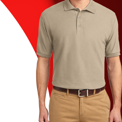 Company uniforms embroidered shirts and work apparel for Work polo shirts embroidered